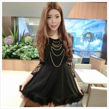CHARMING LONG SLEEVES LACE DRESS