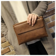 MABLE FASHION Soft Leather Business Envelope Hand Bag 1671 (P)