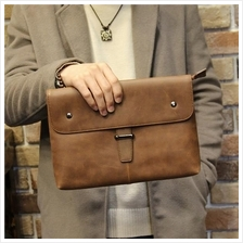 MABLE FASHION Soft Leather Business Envelope Hand Bag 7008 (P)