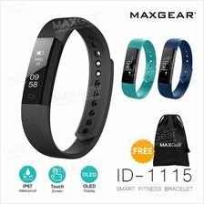 MAXGEAR ID115 PRO Fitness Tracker Smart Watch Wristband Android IOS