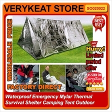 Waterproof Emergency Mylar Thermal Survival Shelter Camping Tent