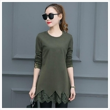 JF TD2092 Korea Fashion Long Sleeve Tops - 2 Colors )