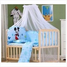 Baby Crib Cradle Natural Multi Functional Baby Wooden Cot 105*60cm