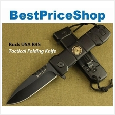 Buck USA B35 Dark Angel Tactical Folding Survival Knife Camping Blade