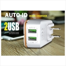 LDNIO 2USB AUTO ID  Quick Charger  For iPhone Tab Samsung Mi Huawei