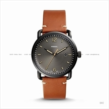 FOSSIL FS5276 Men's The Commuter Date Leather Strap Black Brown