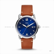 FOSSIL FS5325 Men's The Commuter Date Leather Strap Blue Brown