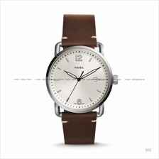FOSSIL FS5275 Men's The Commuter Date Leather Strap Cream Brown