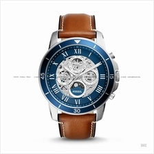 FOSSIL ME3140 Men's Grant Automatic Day-Night Leather Blue Brown
