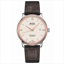 MIDO M027.408.46.268.00 BARONCELLI Gent Automatic COSC leather white