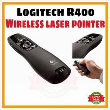 Logitech R400 Wireless Presenter Red Laser Pointer PPT USB Office Use