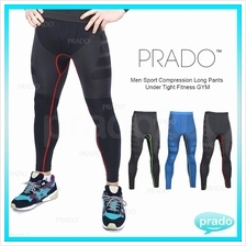 PRADO Men Sport Compression Long Pants Under Tight Fitness GYM MA05