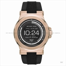 MICHAEL KORS ACCESS MKT5010 Dylan Smartwatch Silicone Black Rose Gold