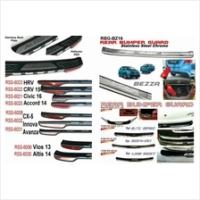 Honda Civic 2016 Chrome ABS Rear Bumper Guards Protector