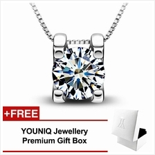 YOUNIQ Box 925 Sterling Silver Necklace Pendant with Cubic Zirconia