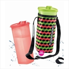Tupperware Fridge Water Bottle (2) 2.0L Free Pouch - Red + Green