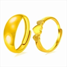YOUNIQ Premium Smooch Eternal 24K Gold Plated Ring Set- Couple Rings