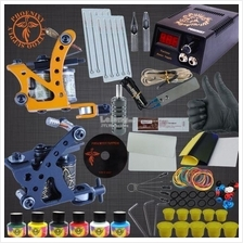 Professional Tattoo Kits 2 Tattoo Machines 6 Colors Ink Set Power Supp