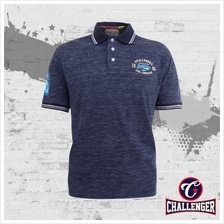CHALLENGER B &T/Plus Size Polo T-Shirt with Print  & Emblem CH2013)