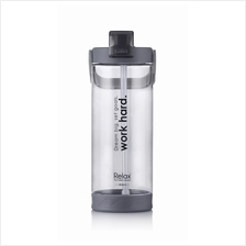 1800ml Relax Tritan Water Bottle with Straw- D7218 Grey