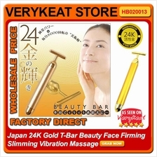 Japan 24K Gold T-Bar Beauty Face Firming Slimming Vibration Massage