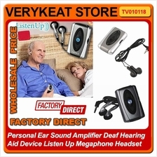 Personal Ear Sound Amplifier Hearing Aid Device Listen Up Megaphone