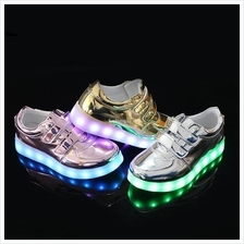 Colorful Flash Shoes Children's Light Shoes USB Charge Girl & Boy)