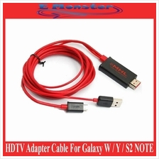 2M Samsung S2 Note i9220 Micro USB MHL HDMI HDTV Out Adapter Cable