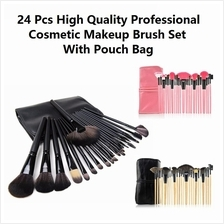 24 Pcs High Quality Professional Cosmetic Makeup Brush Set With Pouch