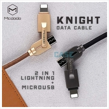 Mcdodo Knight 2 in 1 Data Braided Denim Jean Cable Lightning MicroUSB