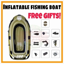 NEW Inflatable Boat Extra Safet Inflatable Fishing Boat 3 To 4 Person