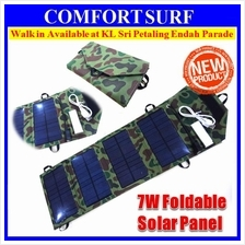 7W Folding Solar Panel 5V USB Travel Camping Portable Battery Charger