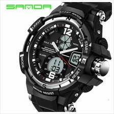 SANDA 289 Waterproof Multifunctional Sports Men Digital Watch (Silver)