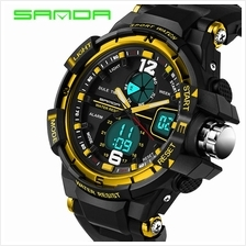 SANDA 289 Waterproof Multifunctional Sports Men Digital Watch (Gold)