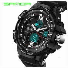 SANDA 289 Waterproof Multifunctional Sports Men Digital Watch (Black)