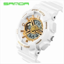 SANDA799 GStyle Military Waterproof Sports Men Digital Watch-WhiteGold