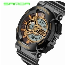 SANDA799 GStyle Military Waterproof Sports Men Digital Watch-BlackGold
