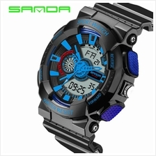 SANDA799 GStyle Military Waterproof Men Sports Digital Watch-BlackBlue