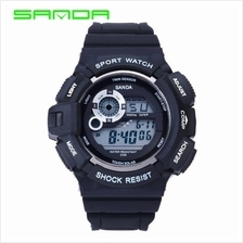 SANDA 302 Waterproof Outdoor Sports Men's Digital Watch (Silver)