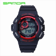 SANDA 302 Waterproof Outdoor Sports Men's Digital Watch (Red)