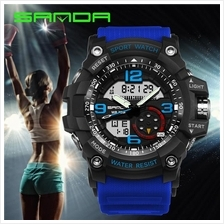 SANDA 759 G Style Military Sports Men's Shockproof Digital W-BlackBlue