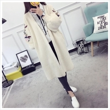 Sweater Ladies Cardigan Loose Korean Long Section )