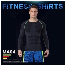 ZEEBE Men Sport Long Sleeve Compression Under T Shirt Fitness GYM MA04