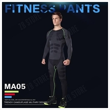 ZEEBE Men Sport Compression Long Pants Under Tight Fitness GYM MA05