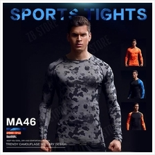ZEEBE Men Sport Long Sleeve Compression Under T Shirt Fitness GYM MA46