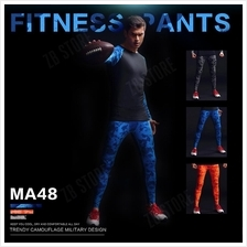 ZEEBE Men Sport Compression Long Pants Under Tight Fitness GYM MA48