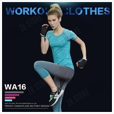 ZEEBE Women Sport Compression Workout T Shirt Fitness GYM WA16