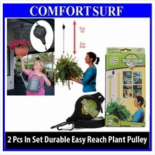 2pcs Gardening Easy Reach Plant Pully Hook Light Flowerpot Easy Adjust