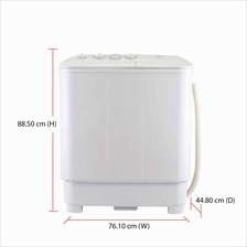 Midea Washing Machine MSW-7008P (7.0kg) Semi Auto
