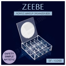 ZEEBE Clear Acrylic Makeup Storage Organizer with Mirror SF-1026B